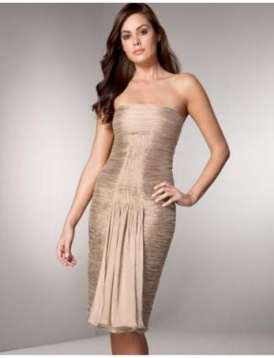 Mermaid Strapless Tea-length Satin Bridesmaid Dresses for brides new style(BMD0147)