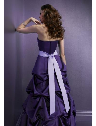 A-Line/Princess Strapless Floor-Length Satin Bridesmaid dress for brides new Style(BMD0081)