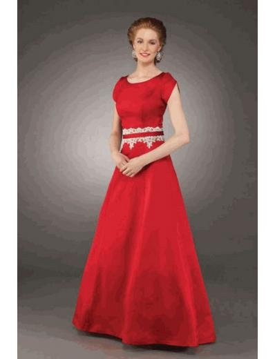 A-Line/Princess Scoop Floor Length Satin Bridesmaid dress for brides new Style(BMD0232)