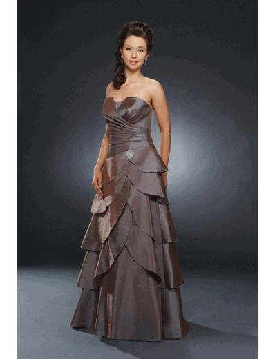 A-Line/Princess Strapless Floor Length Satin Bridesmaid dress for brides new Style(BMD0235)