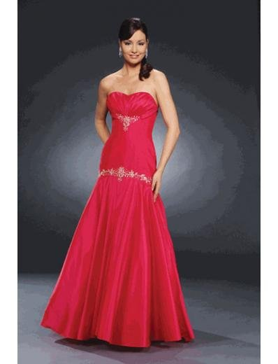A-Line/Princess Strapless Floor Length Satin Bridesmaid dress for brides new Style(BMD0237)