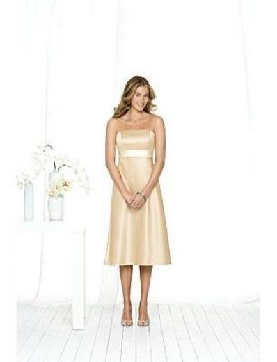 A-Line/Princess Strapless knee-length Satin Bridesmaid dress for brides new Style(BMD0074)