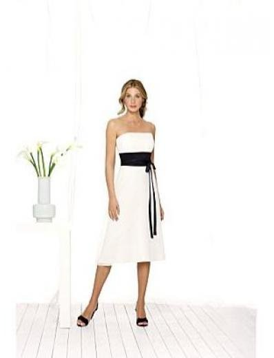 A-Line/Princess Strapless knee-length Satin Bridesmaid dress for brides new Style(BMD0073)