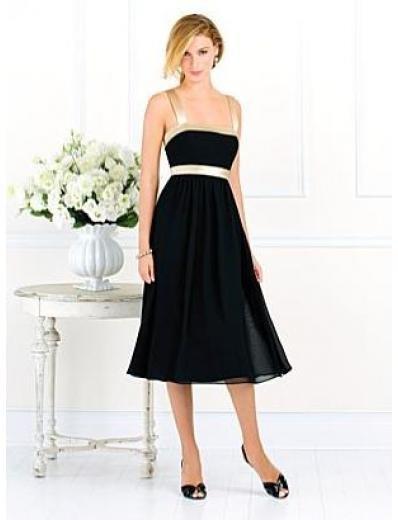 A-Line/Princess Spaghetti straps Knee-length Chiffon Bridesmaid dress for brides new Style(BMD0070)