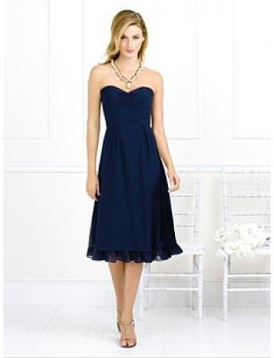A-Line/Princess Strapless knee-length Chiffon Bridesmaid dress for brides new Style(BMD0067)