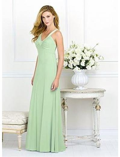 A-Line/Princess V-neck Floor-Length Chiffon Bridesmaid dress for brides new Style(BMD0069)