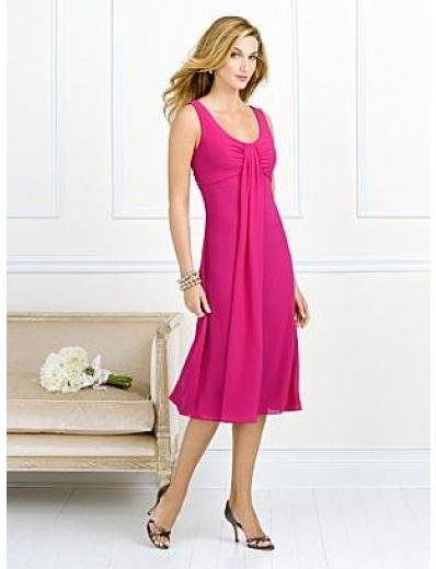 A-Line/Princess Scoop knee-length Chiffon Bridesmaid dress for brides new Style(BMD0068)