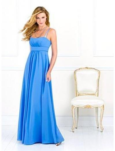 A-Line/Princess spaghetti straps Floor-Length Satin Bridesmaid dress for brides new Style(BMD0066)