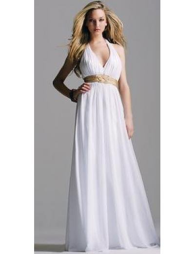 Column/Sheath Halter top Sweeping Train Chiffon Bridesmaid Dresses for brides new style(BMD0149)