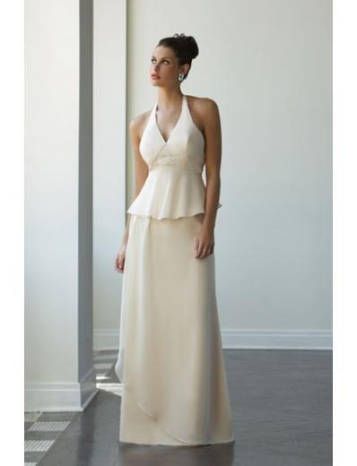 A-Line/Princess halter top Floor Length Chiffon Bridesmaid Dresses for brides new style(BD0086)