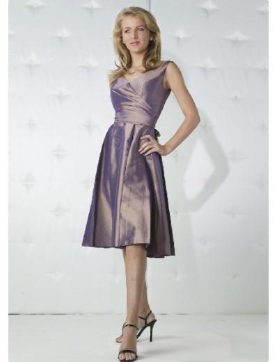 A-Line/Princess V-neck knee-length Taffeta Bridesmaid Dresses for brides new Style(BD0164)