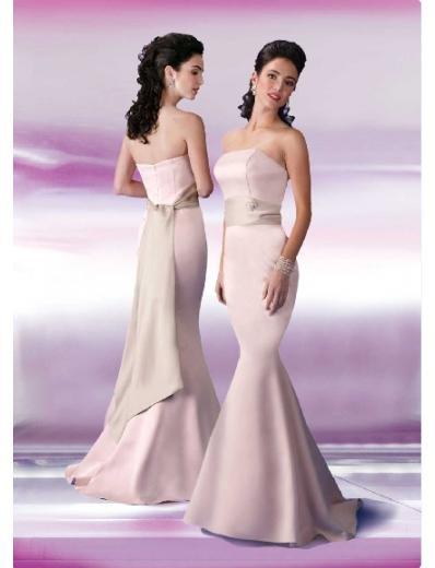 Mermaid Strapless Floor-length Satin Bridesmaid Dresses for brides new Style(BD0132)
