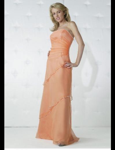 Column/sheath Strapless Floor-length Chiffon Bridesmaid Dresses for brides new Style(BD0165)