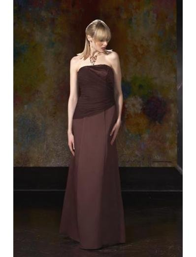 A-Line/Princess Strapless Floor-Length Satin Bridesmaid dress for brides new Style(BD0055)