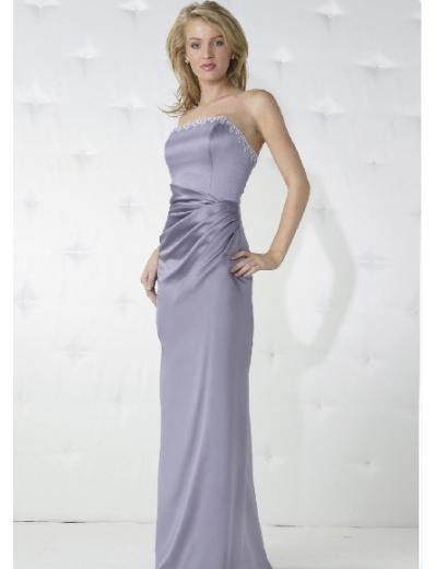 Column/sheath Strapless Floor-length Satin Bridesmaid Dresses for brides new Style(BD0166)