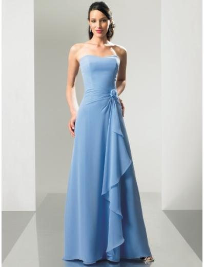 Empire Strapless Floor-length Chiffon Bridesmaid Dresses for brides new style(BMD0151)