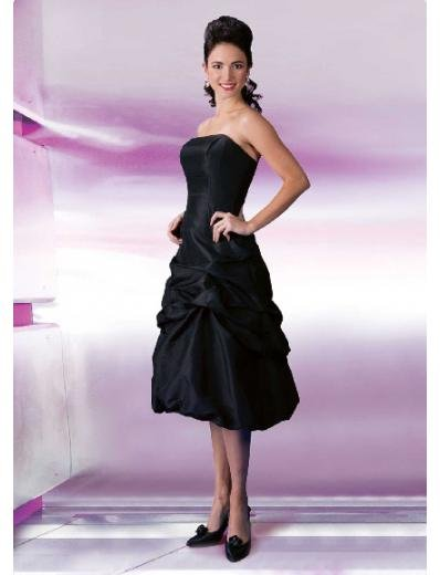 A-Line/Princess Strapless knee-length Satin Bridesmaid Dresses for brides new style(BD0121)