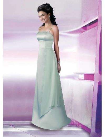 A-Line/Princess Spagetti Straps Floor length Satin Bridesmaid Dresses for brides new style(BD0122)