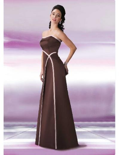 A-Line/Princess Strapless Floor length Satin Bridesmaid Dresses for brides new style(BD0125)