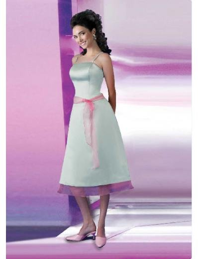 A-Line/Princess Spagetti Straps Knee-length Satin Bridesmaid Dresses for brides new style(BD0126)
