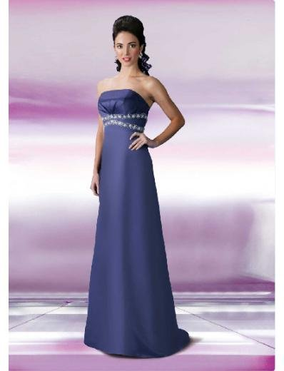 Column/Sheath Strapless Floor Length Satin Bridesmaid Dresses for brides new style(BD0128)