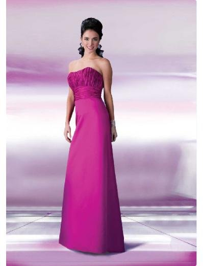 Column/Sheath Strapless Floor Length Satin Bridesmaid Dresses for brides new style(BD0129)