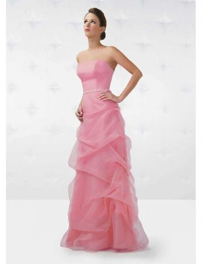 A-Line/Princess Strapless Floor Length organza Bridesmaid Dresses for brides new style(BD0136)