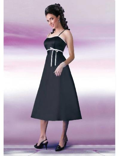 A-Line/Princess Spagetti Straps Knee-length Satin Bridesmaid Dresses for brides new style(BD0127)