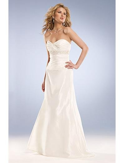 Empire Sweetheart Brush Train Taffeta wedding dress for brides new Style(WD0042)