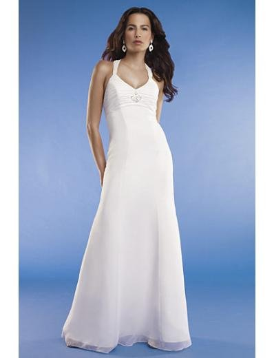 Empire Halter Top Chapel train Chiffon wedding dress for brides new Style(WED0070)