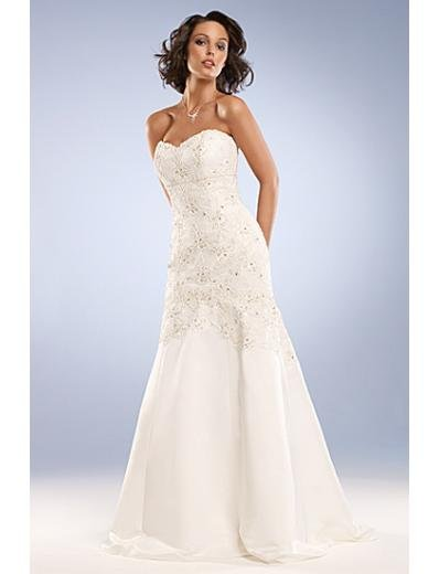 Empire Strapless Chapel Train Chiffon wedding dress for brides new Style(WD0032)