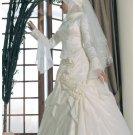 New sexy Prom/Ball/Evening Islamic Wedding Dress(MSL015) Custom Size  voile&satin