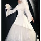 New sexy Prom/Ball/Evening Islamic Wedding Dress(MSL013) Custom Size  voile&satin