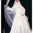 New sexy Prom/Ball/Evening Islamic Wedding Dress(MSL011) Custom Size  voile&satin