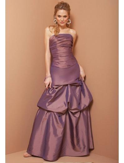 A-Line Strapless Floor Length Taffeta Prom Dress(PDS0063)