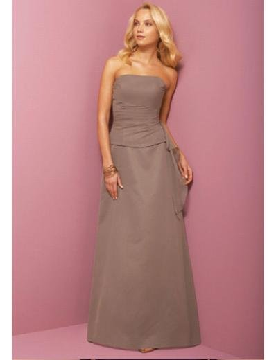 A-Line Strapless Floor Length Satin Prom Dress(PDS0067) for Women's Clothing