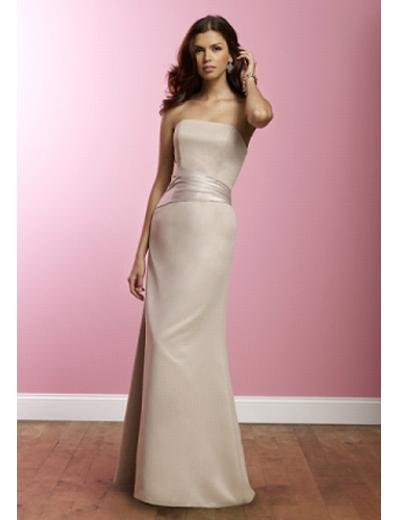 A-Line Strapless Floor Length Satin Prom Dress(PDS0070) for Women's Clothing