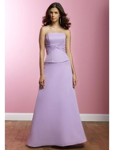 A-Line Strapless Floor Length Satin Prom Dress(PDS0072)  for Women's Clothing