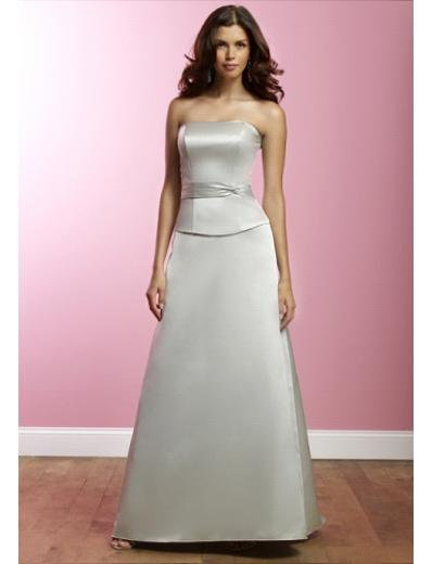 A-Line Strapless Tea-length Satin Prom Dress(PDS0073) for Women's Clothing