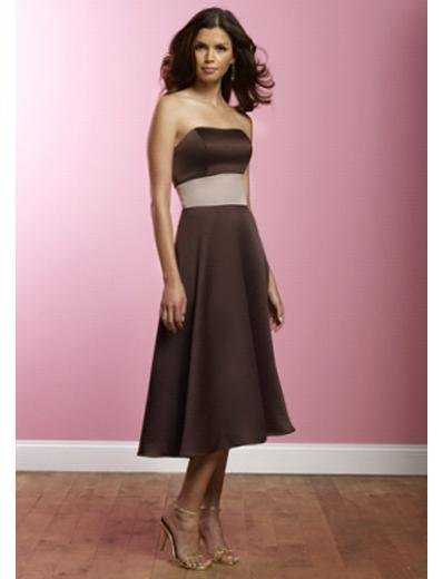 A-Line Strapless Knee-length Satin Prom Dress(PDS0075) for Women's Clothing