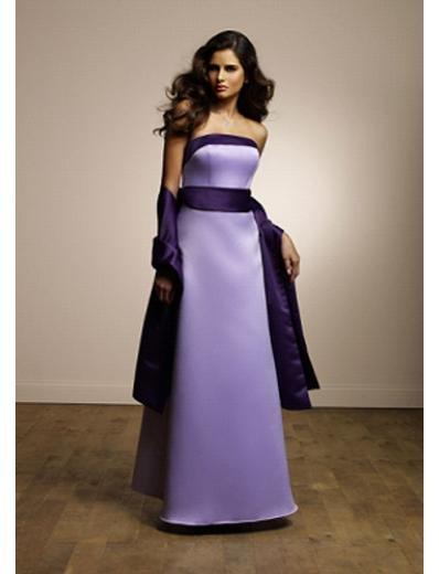 Column/Sheath Strapless Floor Length Satin Prom Dress(PDS0078) for Women's Clothing