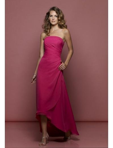 A-Line Strapless Cocktail Chiffion Prom Dress(PDS0045) for Women's Clothing