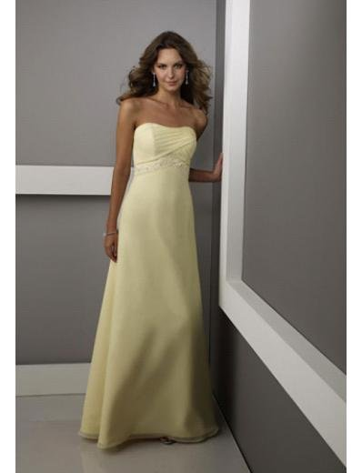 Empire Strapless Floor Length Chiffion Prom Dress(PDS0051) for Women's Clothing