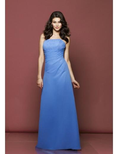 Empire Strapless Floor Length Chiffion Prom Dress(PDS0053) for Women's Clothing