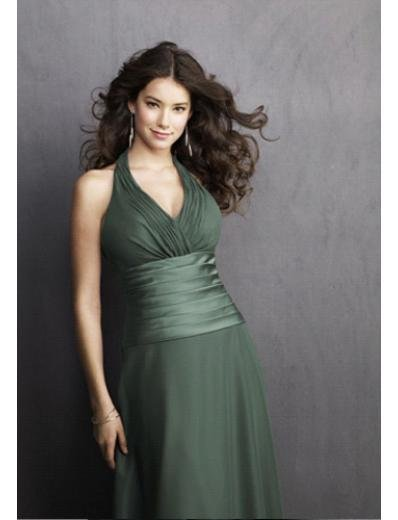 A-Line Halter top Knee-length Satin Prom Dress(PDS0058) for Women's Clothing