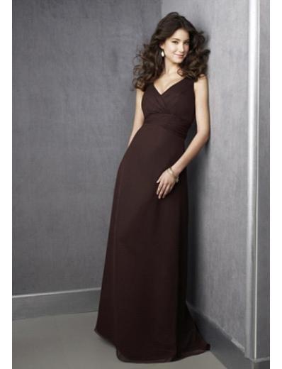 Empire V-neck Floor Length Satin Prom Dress(PDS0059) for Women's Clothing