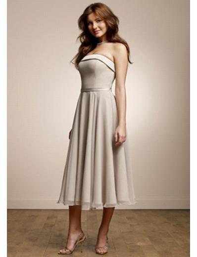 A-Line Strapless Knee-length Chiffion Prom Dress(PDS0081) for Women's Clothing
