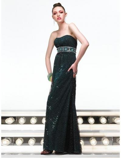 Empire Strapless Floor Length Lace Prom Dress(PS0021) for Women's Clothing
