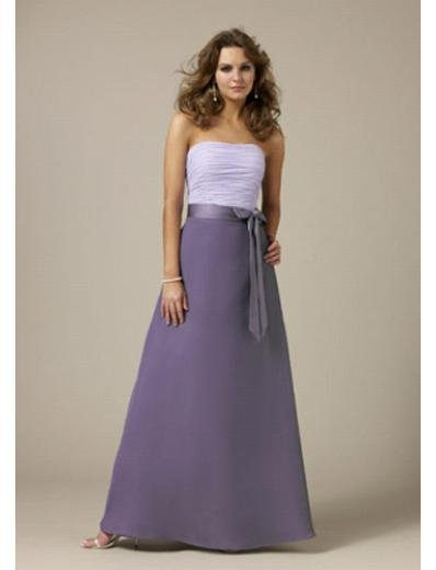 A-Line Strapless Tea-length Satin Prom Dress(PDS0087) for Women's Clothing