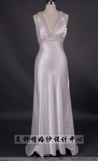 Empire V-neck Chapel train Chiffon wedding dress for brides new Style(LF0080)